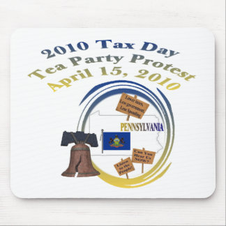 Protesta de la fiesta del té del día del impuesto  tapete de ratones
