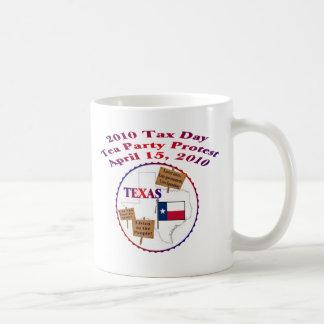 Protesta de la fiesta del té del día del impuesto taza de café
