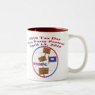 Protesta de la fiesta del té del día del impuesto taza