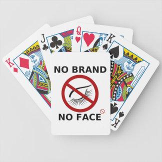 Protesta de marcado en caliente de la restricción barajas de cartas