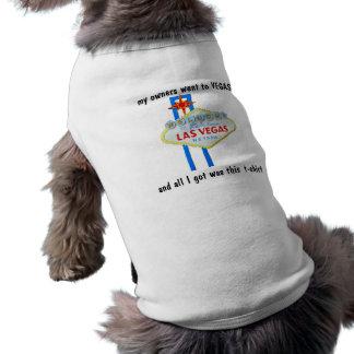 Protesta Las Vegas del perro Playera Sin Mangas Para Perro