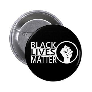 Protesta negra del #blacklivesmatter de la materia pin redondo de 2 pulgadas