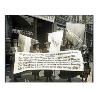 Protesta Republicans, 1920 de las feministas Postal