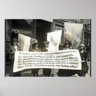 Protesta Republicans, 1920 de las sufragistas (NWP Poster
