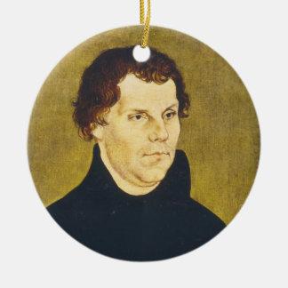 Protestant Reformist Martin Luther by L. Cranach Ceramic Ornament