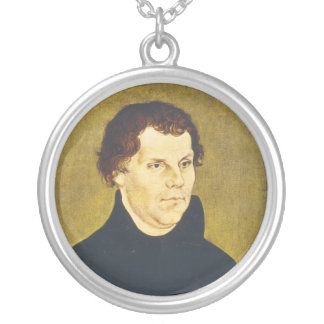 Protestant Reformist Martin Luther by L. Cranach Silver Plated Necklace