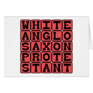 Protestant sajón Anglo blanco, AVISPA Tarjeton