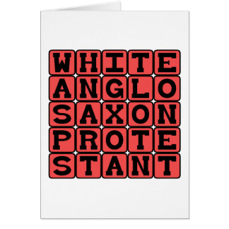 Protestant sajón Anglo blanco, AVISPA Tarjeta De Felicitación