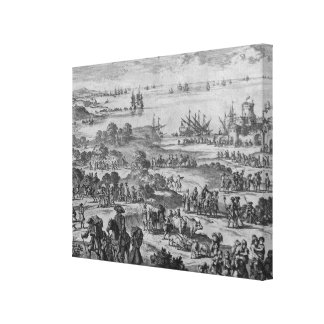 Protestants leaving France Canvas Print