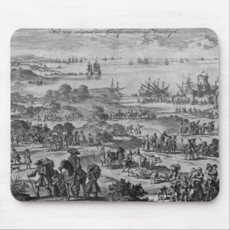 Protestants leaving France Mouse Pad