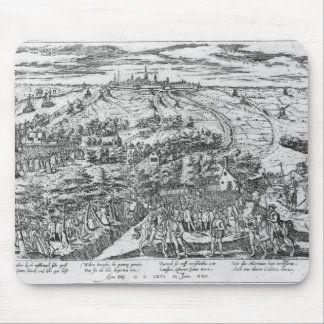 Protestants meeting in the open around Antwerp Mouse Pad
