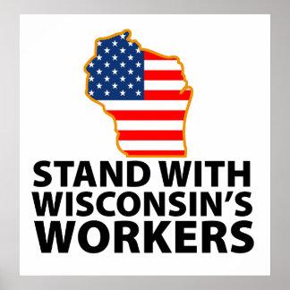 Protestas de Wisconsin Posters
