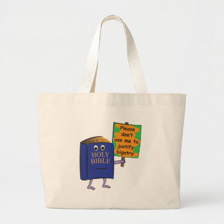 Protesting Bible Large Tote Bag