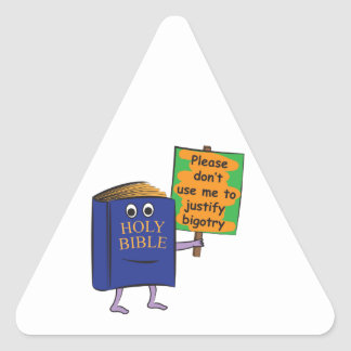Protesting Bible Triangle Sticker
