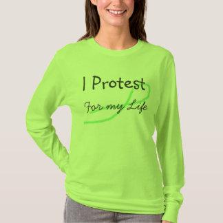 Protesto para mi camisa de la conciencia de la