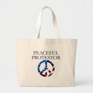 Protestor pacífico bolsa de mano