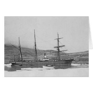 Proteus del barca goleta del vapor tarjeta de felicitación