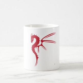Prothero el dragón rojo taza básica blanca