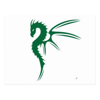 Prothero el dragón verde postal