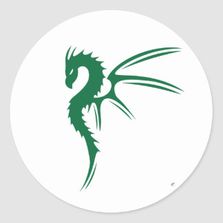 Prothero the Green Dragon Classic Round Sticker