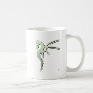 Prothero the Metallic Green Dragon Coffee Mug