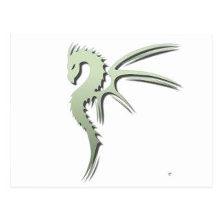 Prothero the Metallic Green Dragon Postcard