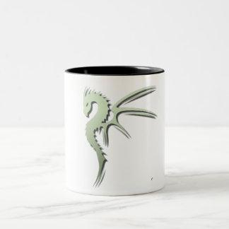 Prothero the Metallic Green Dragon Two-Tone Coffee Mug