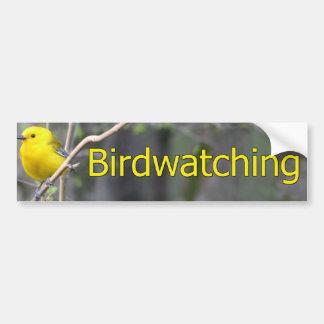 Prothonatary Warbler Logo Car Bumper Sticker
