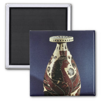 Proto-Corinthian style vase with a sphinx 2 Inch Square Magnet