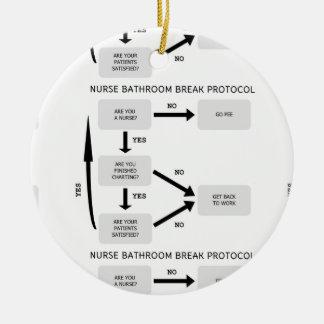 Protocolo de la rotura del cuarto de baño de la adorno navideño redondo de cerámica