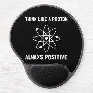 Proton siempre positivo alfombrillas de ratón con gel
