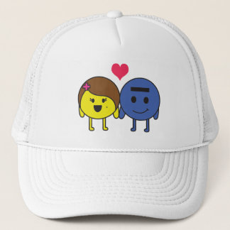 Protona and Electron in love Trucker Hat
