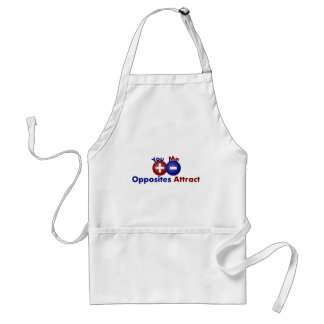 Protons, Electrons, Opposites Attract Adult Apron