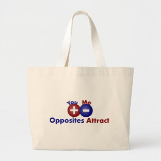 Protons, Electrons, Opposites Attract Canvas Bags