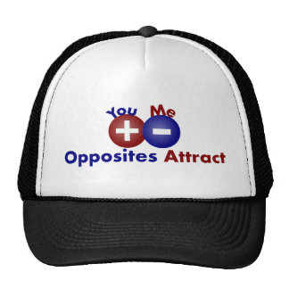 Protons, Electrons, Opposites Attract Hats