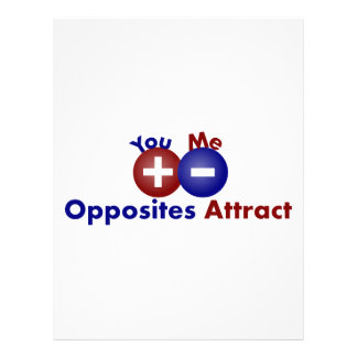 Protons, Electrons, Opposites Attract Personalized Letterhead