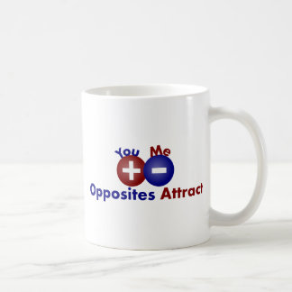Protons, Electrons, Opposites Attract Coffee Mug