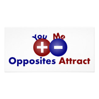 Protons, Electrons, Opposites Attract Photo Greeting Card