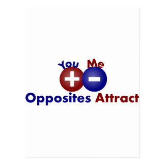 Protons, Electrons, Opposites Attract Postcard