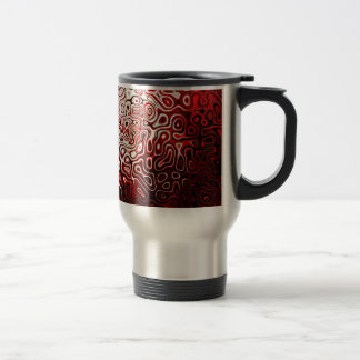 Protoplasm abstract digital design travel mug