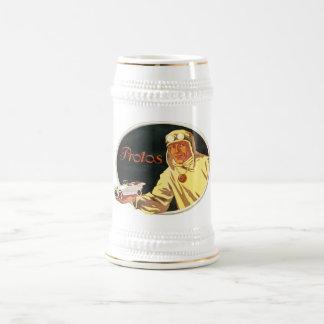 Protos - Vintage German Auto Advertisement 18 Oz Beer Stein