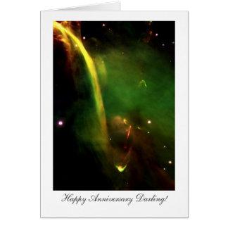 Protostar Herbig-Haro 34 Happy Anniversay Darling Greeting Card