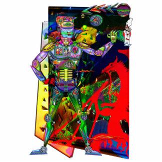 Prototipo listo del robot del hombre de Digitaces Escultura Fotografica