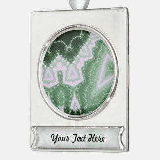 Protozoa - fractal art silver plated banner ornament