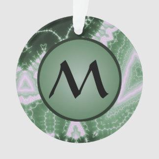 Protozoa - fractal art with monogram on green