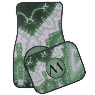 Protozoa - fractal art with monogram on green car floor mat