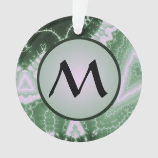 Protozoa - fractal art with monogram on grey