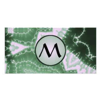 Protozoa - fractal art with monogram on grey card