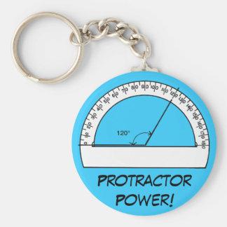 Protractor Power Basic Round Button Keychain