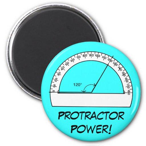 Protractor Power Fridge Magnets